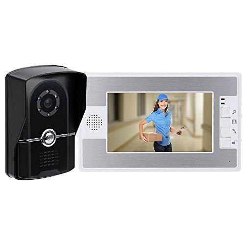 7″ tft color videoportero intercomunicador timbre sistema ir cámara de seguridad monitor manos libres