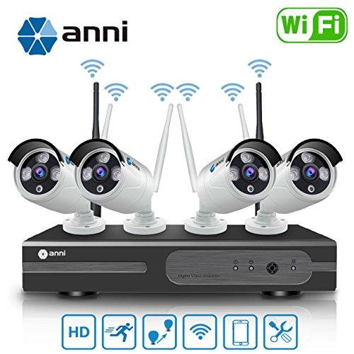 Kit de cámaras seguridad wifi vigilancia inalámbrica sistema 1080p 4ch hd nvr