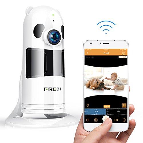 Hd 1080p fredi cámara panorámica/wifi cámara ip/cámara vigilancia/cámara seguridad y inalámbrica/vigilabebes baby monitor ir visión nocturna/2-way talking detección de movimiento vista remota-blanca