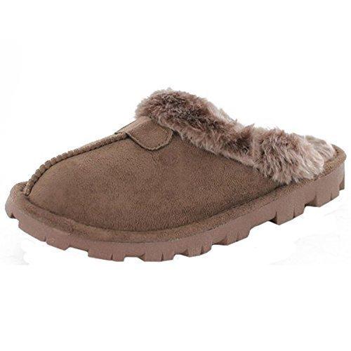 Zapatillas de estar por casa para mujer marrón marrón 39