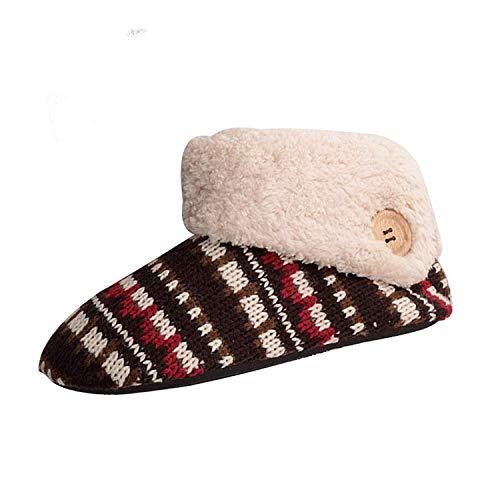 Zapatillas de estar por casa invierno pantufla cerrada antideslizantes para mujer rojo 39/40 eu