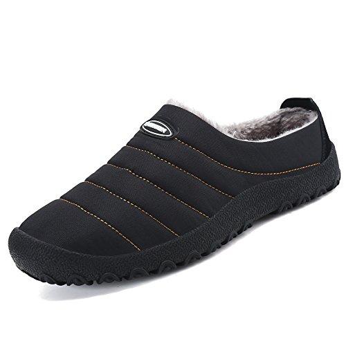 Comodas zapatillas de estar por casa de mujer invierno hogar andar negro 36