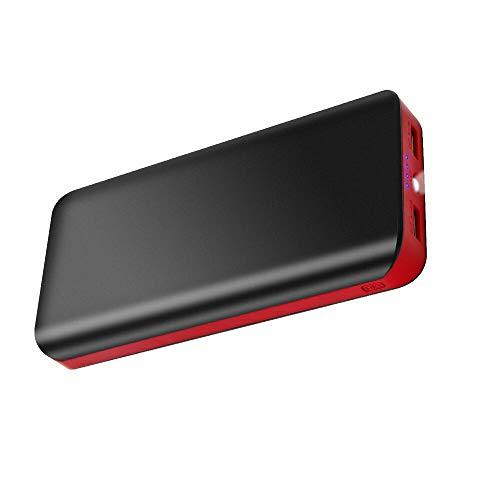 Power bank 25000mah batería externa carga rápida cargador portátil movil de alta capacidad con 2 salida usb y 4 indicadores led para samsung huawei xiaomi tablet psp camera teléfono móvil kindle