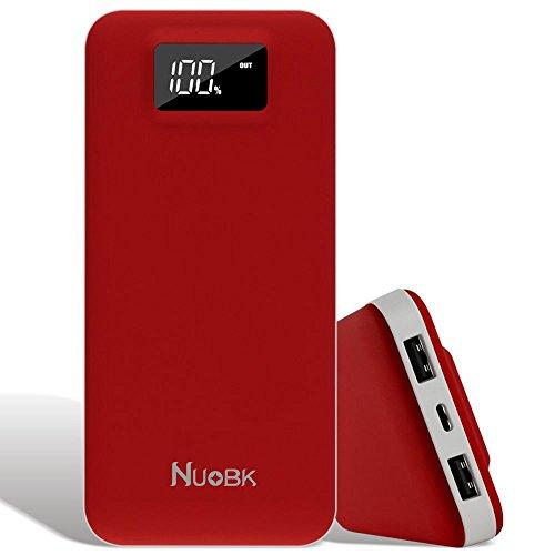 20000mah cargadores portátiles batería externa pantalla led y entrada dual usb