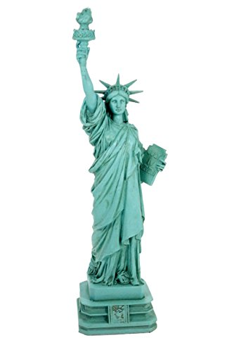 Estatua de la libertad statue of liberty 32 cm verde new york figura escultura decorativa