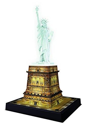 Puzzle building 3d night edition: estatua de la libertad