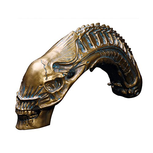 Depredador vs alien modelo de resina cráneo fósil avp figura estatua de juguete de colección