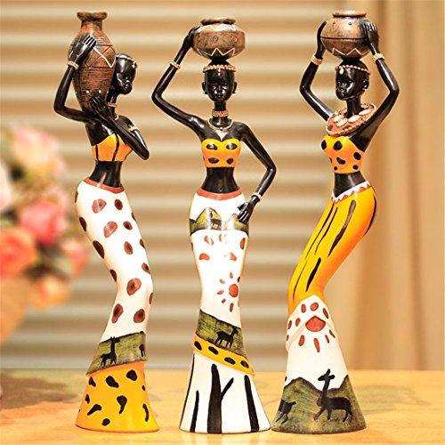 Moderno resina estatua casa decoración arte áfrica nacional aduana figuras conjunto