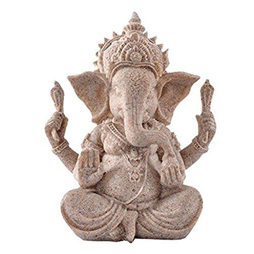 Estatua de elefante de ganesha buddha de piedra arenisca escultura estatuilla hecha a mano