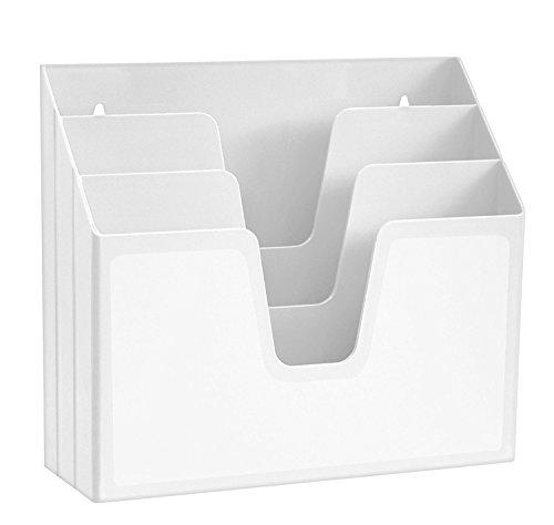 Organizador horizontal con 3 compartimientos para escritorio o pared