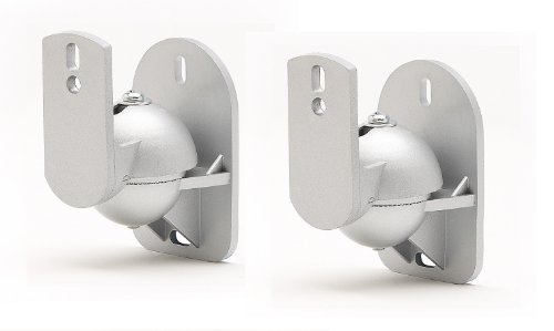 Techsol 2 soportes de pared universal para altavoces home cinema o satélite
