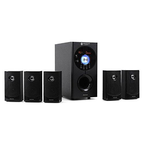 Concept 620 • sistema sonido envolvente 5.1 • home cinema • surround • 95 w rms • subwoofer emisión lateral 6,5″ • bass reflex • 5 altavoces satélite • usb • tarjeta sd • aux • bluetooth • negro