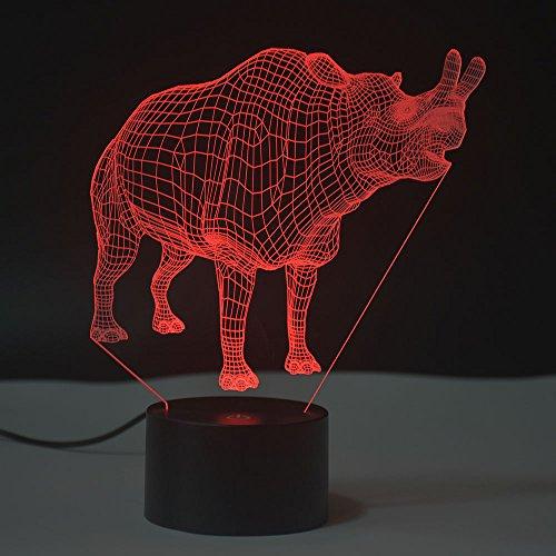 Lámpara ilusión óptica de 3d lámpara de noche led mesa lámparas de escritorio del tacto led de 7 colores cambio de cargador usb accionado el interruptor del tacto luz de la noche para los niños regalo de los amigos