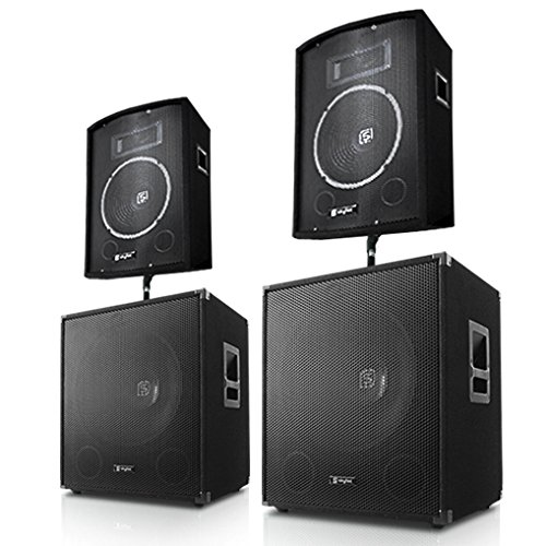 Conjunto de 4 altavoces 1400w home cinema hifi sourround