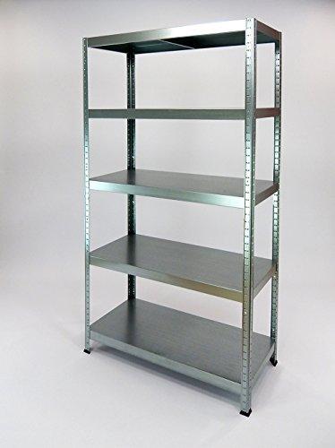Estantería metálica drutal de 180x90x40 con 5 bandejas metálicas color blanco o galvanizado