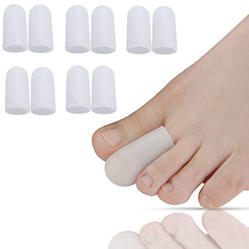 Bolsa de 10 pcs/sumifun gel de silicona almohadillas de punteras suave
