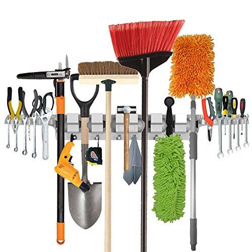 Sostén de la fregona en tapiz de la pared de funciones múltiples ,estante de herramientas para el hogar