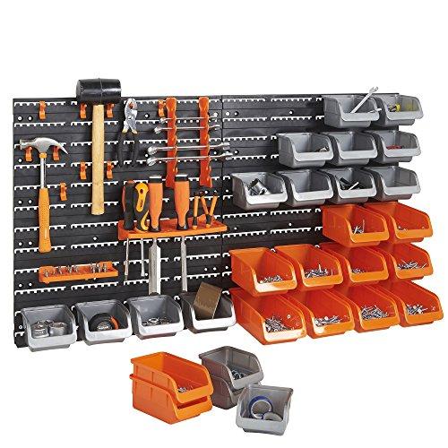 Set de 44 piezas de cubos de guardado y ganchos vonhaus con paneles de pared