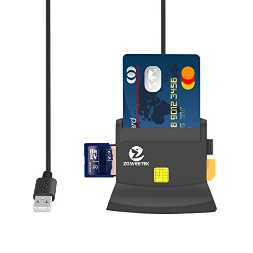 Lector de dni electrónico multifunción para todo tipo de tarjeta de apoyo