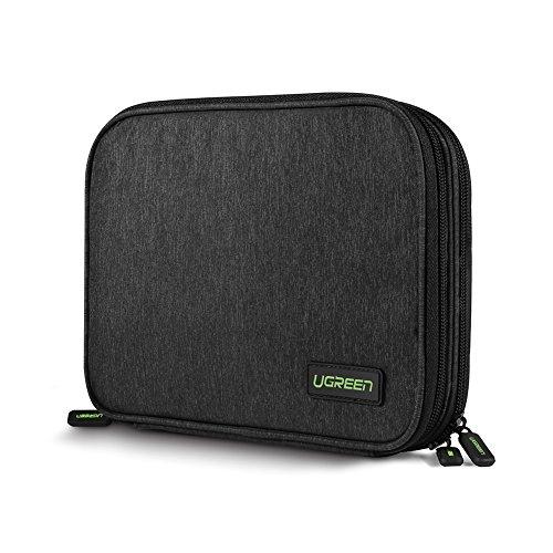 Organizador accesorios electrónicos con compartimentos bolsa portable para guardardisco duro