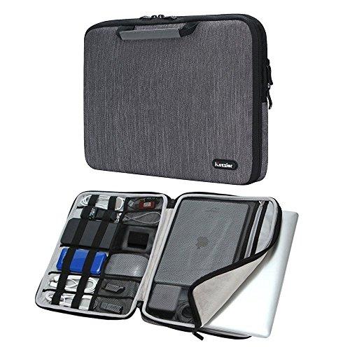 Bolso de la caja de la manga icozzier 13-13,3 pulgadas manija de la correa de accesorios electrónicos del ordenador portátil bolso protector para 13″macbook/macbook pro/pro retina manga