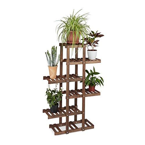 Soporte de madera para plantas