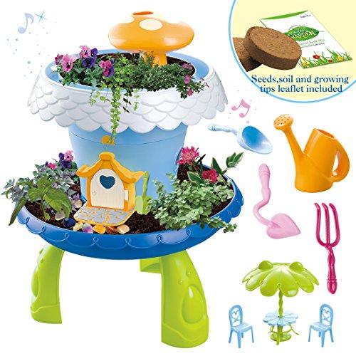 Mi cuento de hadas casita de campo mágica jardín en miniatura juego de botánica para niños incluye semillas y accesorios