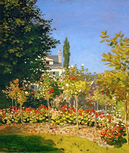 Impresión artística/póster: claude monet jardin en fleurs