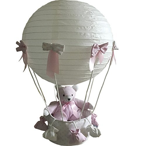 Lampara globo oso topos rosa