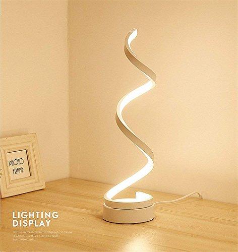 Espiral led lámpara de mesa