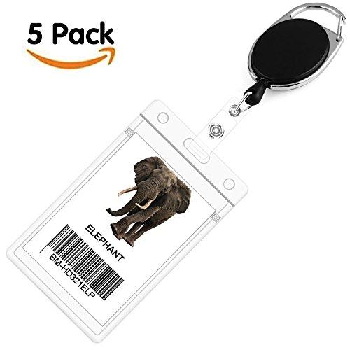 Llaveros retráctil de tarjeta clip de cinturon para soporte de tarjeta id