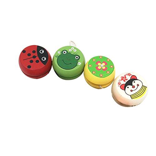 Niños yoyo yoyó pelota patrón de dibujos animados lindo tipo surtido fiesta de madera yoyó juguete para niños niñas