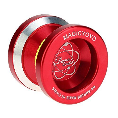 Magic yoyo profesional n8 aleación de aluminio metálico yoyo 8 bolas kk rodamiento con cuerda hilatura para niños