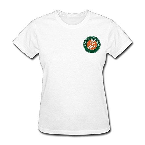 Womens french open roland garros 2016 tennis tournament loco t shirt printing small