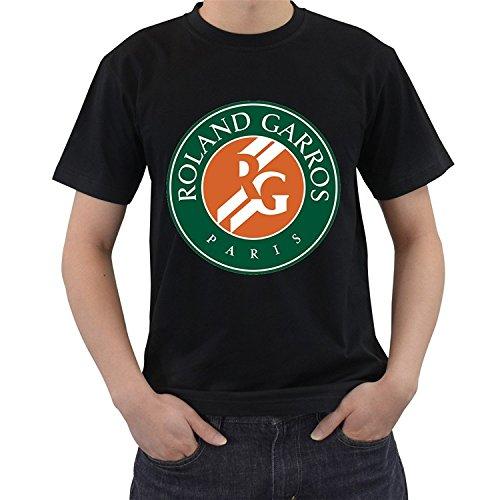 Men's french open roland garros grand slam tennis short sleeve t-shirt shirt