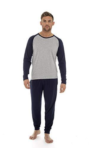 Pijama hombre invierno sudadera gimnasio varios colores 100% algodón mangas largas set suave cómodo ropa de dormir