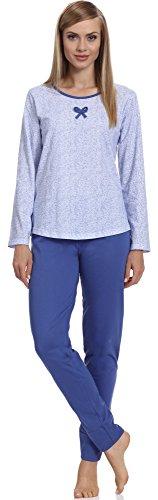 Pijamas conjunto camisetas mangas largas y pantalones largos ropa de cama interior lencería mujer 1192