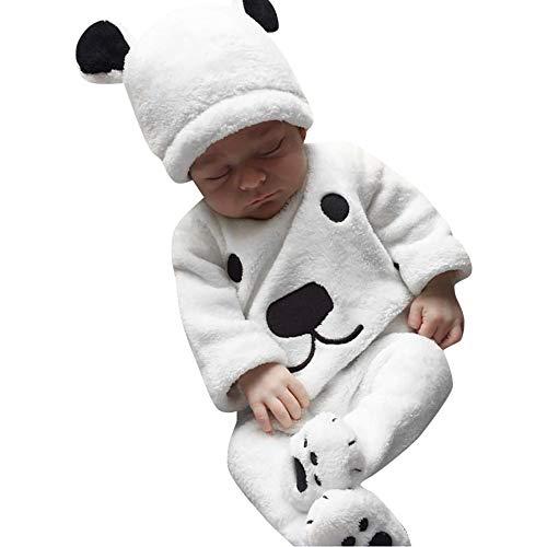 879a4c88b49c5 modaworld 3pcs recién nacido niña niño invierno dibujos animados tops  camisas camiseta pantalones trajes