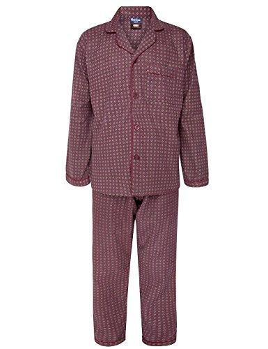 Hombre invierno winceyette franela pijama algodón peinado nighwear talla m a xxl