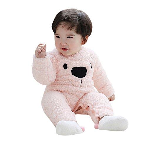 Yanhoo el mono de felpa del oso de felpa del bebé de los niños conjuntos otoño/invierno cheap ropa de niños infantil pijama recien nacido ropa linda