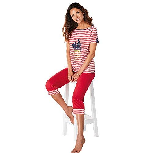 Pijama camiseta de escote barco con vivo a contraste by vencastyle