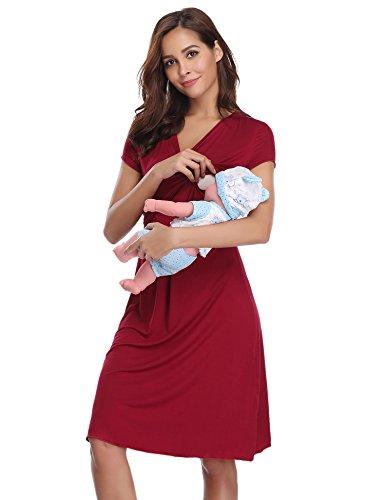 Ropa premamá de lactancia algodón pijama para mujer vestido