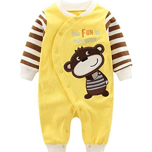 Bebés pijama algodón mameluco niñas niños peleles sleepsuit caricatura trajes