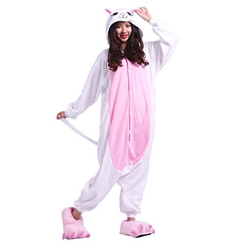 Pijama animal onesie entero para adultos pijama mono animal para mujer hombre disfraz para navidad con capucha invierno franela