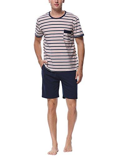 Pijamas hombre verano casual moderno del 100% algodón