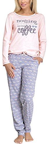 Pijamas conjunto camisetas mangas largas y pantalones largos ropa de dormir de cama lencería mujer 1003