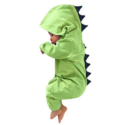 Bebé dinosaurio hooded mameluco ropa pijama trajes de niños