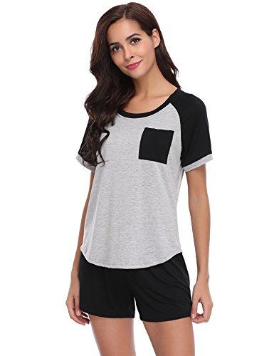 Pijamas mujer verano corto del 95% algodón 2 piezas