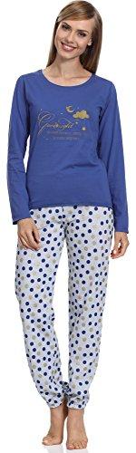 Pijamas conjunto camisetas mangas largas y pantalones largos ropa de dormir de cama lencería mujer 965