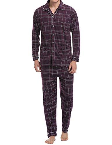 Pijamas hombre invierno algodón 2 piezas calentito pijamas hombre otoño algodón